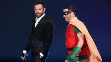 Ben Affleck and Jimmy Kimmel Suit Up For Vax Live as Batman and Robin (See Pics)