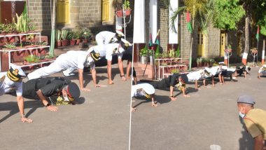 Indian Navy Chief Admiral Karambir Singh Performs Push-Ups With Young Cadets of National Defence Academy (View Pics)