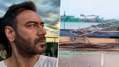Ajay Devgn's Maidaan Sets Get Severely Damaged by Cyclone Tauktae (Watch Video)