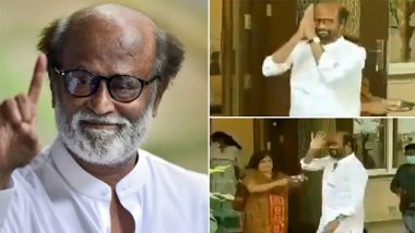 Annaatthe: Rajinikanth Is Back Home After Completing the Film's Shoot, Gets a Desi Welcome From Wife Latha (Watch Video)