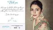 Anushka Sharma Thanks Healthcare and Frontline Workers for 'Working Tirelessly' During the COVID-19 Crisis in India