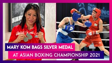 Asian Boxing Championship 2021:  Mary Kom Loses to Nazym Kyzaibay, Bags Silver Medal