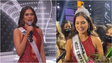 Best Winning Answer of Miss Universe 2020 Andrea Meza, Watch Video of Miss Mexico From Question-Answer Round That Helped Her Win the Crown