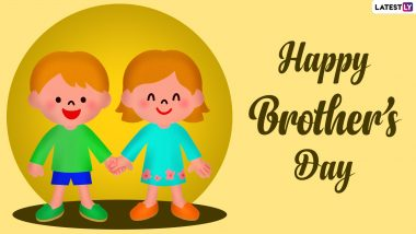 Happy National Brother's Day 2021 Greetings, Wishes & HD Images: Celebrate The Special Day in US With WhatsApp Messages, Quotes and Sayings