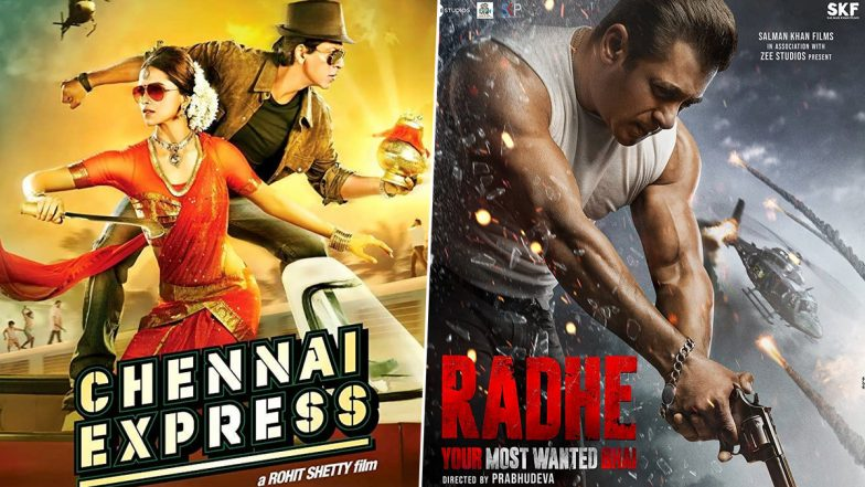 Eid al-Fitr: From Shah Rukh Khan's Chennai Express to Salman Khan's Radhe, Bollywood Movies That Released on the Festive Day!