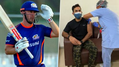 Dinesh Karthik, Chris Lynn Involved in Hilarious Banter Over KKR Star's Pants While Receiving Dose of COVID-19 Vaccine