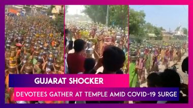 Gujarat Shocker: Devotees Defy Curbs To Gather At A Temple In Ahmedabad Amid COVID-19 Surge