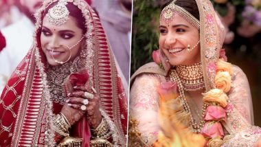 Indian Bridal Outfit Ideas: From Deepika Padukone to Anushka Sharma, Take Bridal Look Inspiration From Real-Life Weddings of Bollywood Actresses