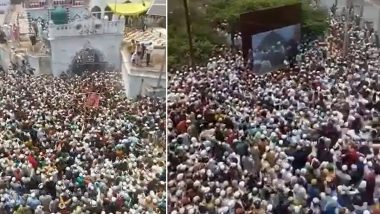 COVID-19 Norms Flouted in UP: Thousands Gather During Funeral of Zila Qazi in Budaun; Police Register Case