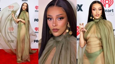 Doja Cat Makes a Sexy Eye-Popping Appearance in Fully Sheer Gown for iHeartRadio Music Awards, View Hot Photos