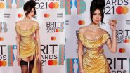 Dua Lipa Looks Ultra Chic in a Golden-Yellow Vivienne Westwood Bardot Mini Dress at BRIT Awards 2021; See PHOTOS