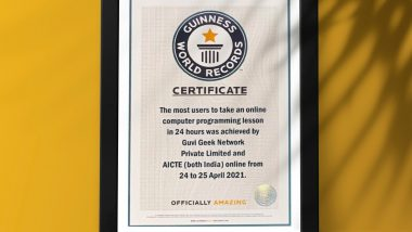 AICTE and Guvi Geek Network To Get Recognition From Guinness World Records for Most Users Taking Online Computer Programming Lesson in 24 Hours