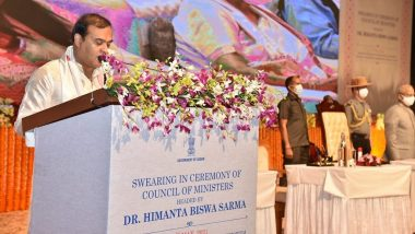 PM Narendra Modi, Amit Shah Congratulate Himanta Biswa Sarma on Taking Oath As Assam CM