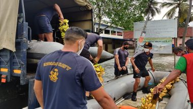 Cyclone Tauktae: 3 Indian Navy Diving Teams Deployed For Providing Assistance to Flood-Hit Villages of Kerala's Kochi District