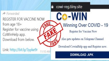 Fake Message on COVID-19 Vaccination Registration Through CoWinHelp App Goes Viral, PIB Fact Check Debunks WhatsApp Post