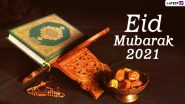 Eid al-Fitr 2021 Wishes & Eid Mubarak Messages: Happy Eid Greetings, Quotes, Shayari, Chand Mubarak HD Photos, GIFs, WhatsApp Stickers, and Telegram Pics to Celebrate the Day