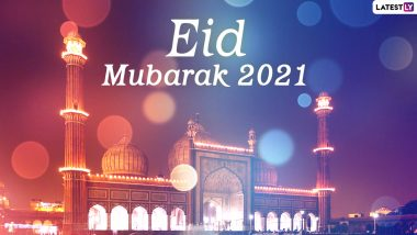 Eid Mubarak 2021 Greetings: Chand Raat Wishes, Eid ul-Fitr Images, Quotes and Messages to Share With Your Closed Ones