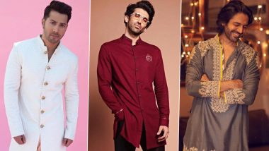Eid al-Fitr 2021 Fashion: Varun Dhawan, Aditya Roy Kapur, Kartik Aaryan – 7 Traditional Outfits Inspired by Bollywood Stars To Look Fab This Festive Season!