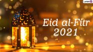 Eid Mubarak 2021 Wishes, HD Images and WhatsApp Stickers: Eid al-Fitr Facebook Messages, Signal Quotes, Telegram Greetings and Instagram GIFs to Celebrate, Eid ul-Fitr