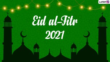Eid al-Fitr Mubarak 2021 HD Images & Wishes: Facebook Greetings, GIF Messages, WhatsApp Stickers & SMS To Send to Family and Friends