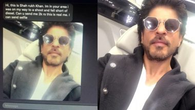 Fact Check: Is 'Shah Rukh Khan' Asking Money for Diesel By Sending His Selfie? Don't Fall For This Fake Viral Message