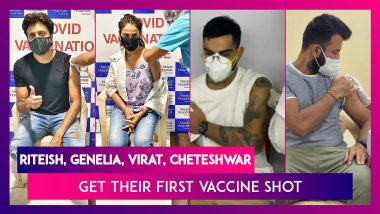 Covid-19 Vaccine: Riteish Deshmukh, Genelia D'Souza, Sonakshi Sinha, Virat Kohli, Cheteshwar Pujara, Ishant Sharma & Others Get Their First Vaccine Shot