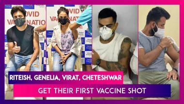 Covid-19 Vaccine: Riteish Deshmukh, Genelia D'Souza, Sonakshi Sinha, Virat Kohli, Cheteshwar Pujara, Ishant Sharma & Others Get Their First Vaccine Shot
