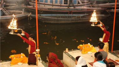 Ganga Maiya Ki Aarti Video for Ganga Saptami 2021: Watch Ganga Aarti Bhajan To Celebrate Ganga Jayanti
