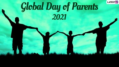 Global Day of Parents 2021 Images & HD Wallpapers for Free Download Online: Wish Happy Parents' Day With WhatsApp Messages, Quotes and GIF Greetings