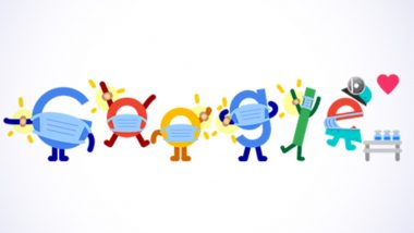 COVID Vaccine Google Doodle Urges People to Vaccinate & Wear Masks: 'Get Vaccinated. Wear a Mask. save Lives.', Says Search Engine Giant in a Creative Doodle