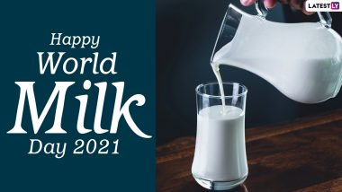 World Milk Day 2021 Images & HD Wallpapers for Free Download Online: Wish Happy Milk Day With WhatsApp Messages and Facebook Quotes