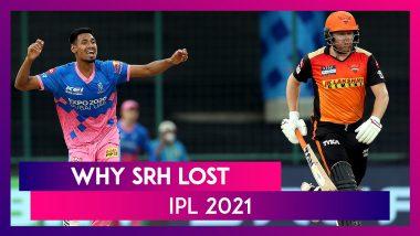 Rajasthan vs Hyderabad IPL 2021: 3 Reasons Why Hyderabad Lost