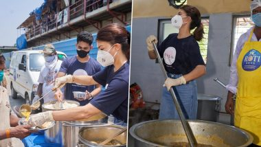 Jacqueline Fernandez Distributes Meals in Mumbai Amid COVID-19 Crisis