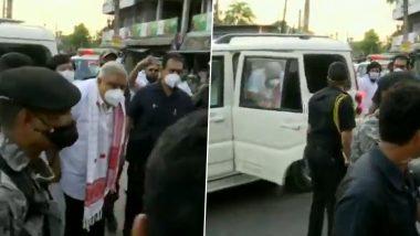 West Bengal: People Block Path of Governor Jagdeep Dhankhar's Car, Raise Slogans in Cooch Behar's Dinhata (Watch Video)