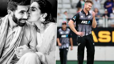 Jimmy Neesham Hilariously Trolls Jasprit Bumrah over Mumbai Indians Pacer's Birthday Post for Wife Sanjana Ganesan