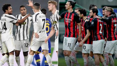 Juventus vs AC Milan Live Streaming Online & Match Time in IST: How to Get Free Live Telecast of Serie A 2020-21 on TV & Football Score Updates in India?