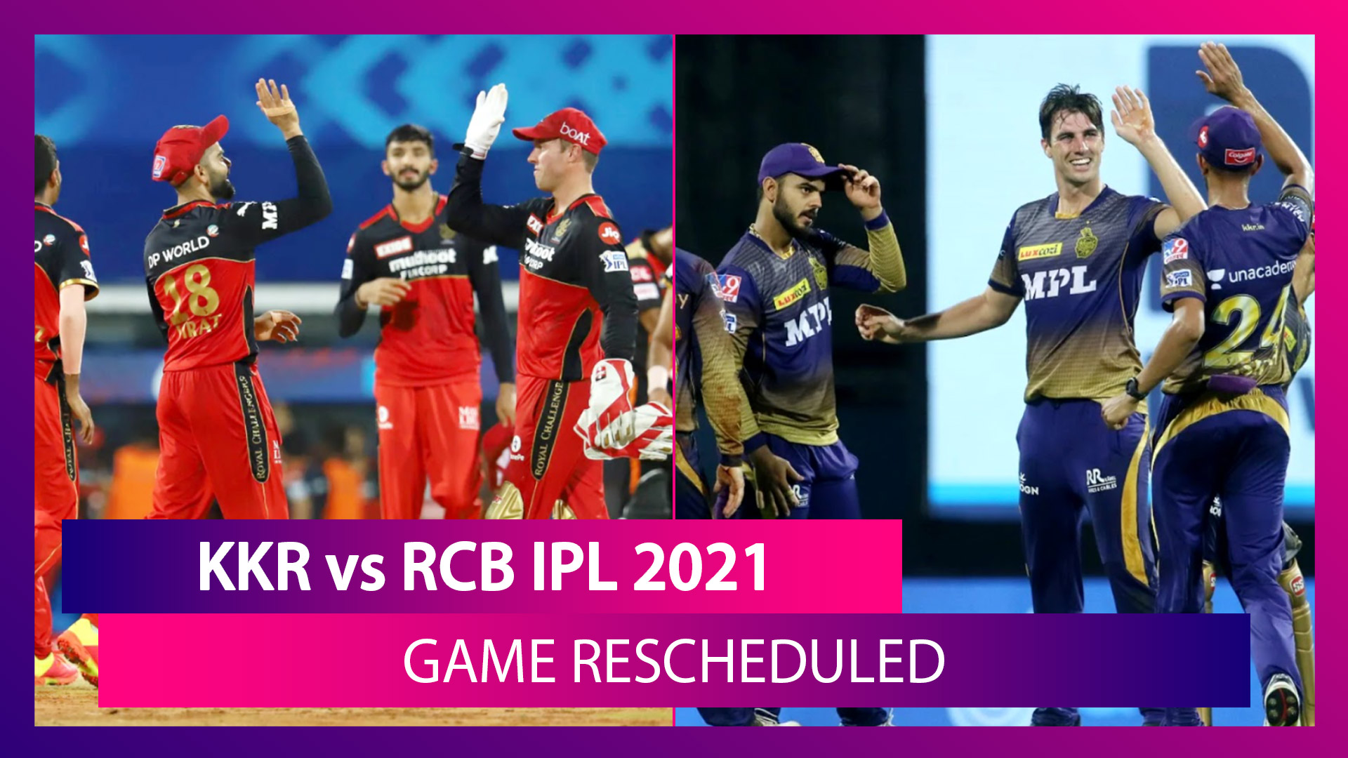 KKR vs RCB IPL 2021 Game Postponed After Varun Chakravarthy, Sandeep Warrier Test COVID-19 Positive
