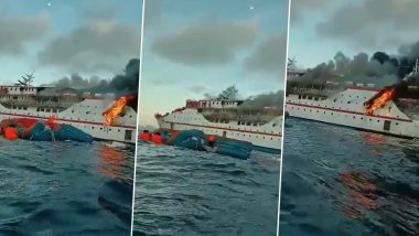 Indonesia: KM Karya Indah Ship Catches Fire in North Maluku, 200 People Rescued (Watch Video)