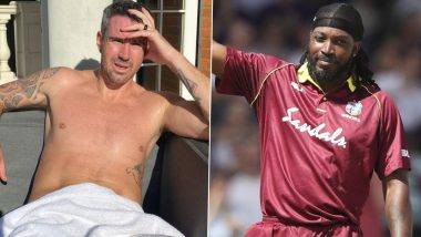 Chris Gayle Teases Kevin Pietersen With Hilarious Reply to Former England Captain's Shirtless Twitter Post (See Tweet)