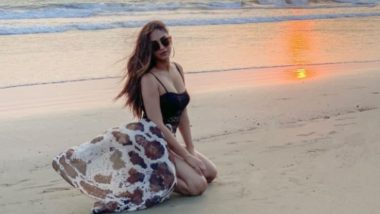 Krystle D'Souza Looks Bewitching in a Chic Black Beachwear and The Glam Pic Will Take Your Heart Away!