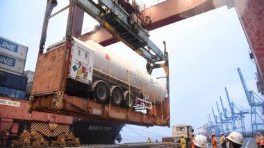 Liquid Medical Oxygen, Oxygen Cylinders Arrive at Mumbai Port from Kuwait