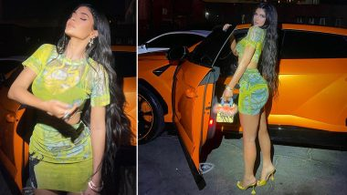 Kylie Jenner's Printed Co-Ord Set is Cute But Her Little Handbag is Even Cuter (View Pics)