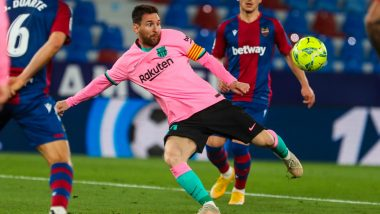 Levante 3–3 Barcelona, La Liga 2020–21 Result: Sergio Leon's Late Goal Leave Barca Trailing in Title Race After Thrilling Draw