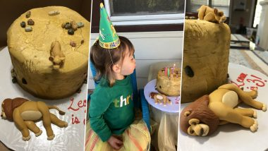Little Girl Celebrates Birthday with Disney's The Lion King Cake Specifically with the Moment Where Mufasa Dies; See PICS