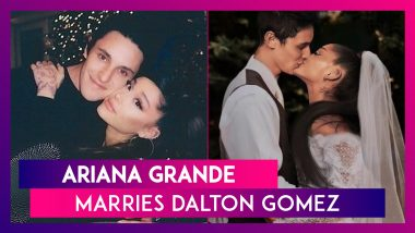 Ariana Grande Marries Dalton Gomez At Their Home In California's Montecito In A Tiny & Intimate Ceremony