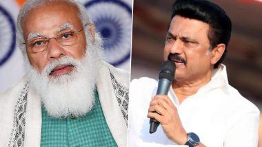 Tamil Nadu CM M.K. Stalin Writes To Prime Minister Narendra Modi Urging To Reduce GST on COVID-19 Vaccines