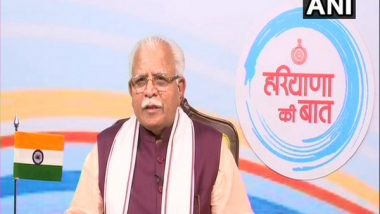 Haryana CM Manohar Lal Khattar Directs Officials To Update Data Regarding Beds, Patients and Oxygen of All Hospitals on Online Portal