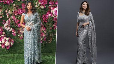 Fashion Faceoff: Priyanka Chopra Jonas or Madhuri Dixit, Whose Stunning Grey Saree Will You Steal?