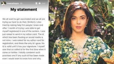 Meera Chopra Denies Allegations of Getting Her COVID-19 Vaccination Via Fraudulent Means, Issues Statement