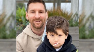 Lionel Messi Posts Picture of Himself With Son Ciro on Instagram, Captions it, 'Having Coffee With Batman'
